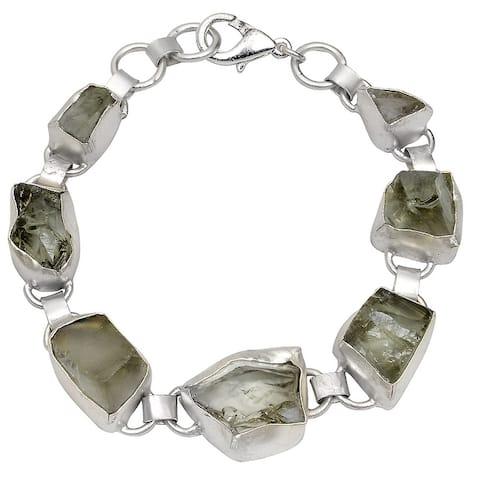 Amethyst, Smoky Quartz, Citrine, Apatite Brass Fancy Fashion Bracelet by Orchid Jewelry