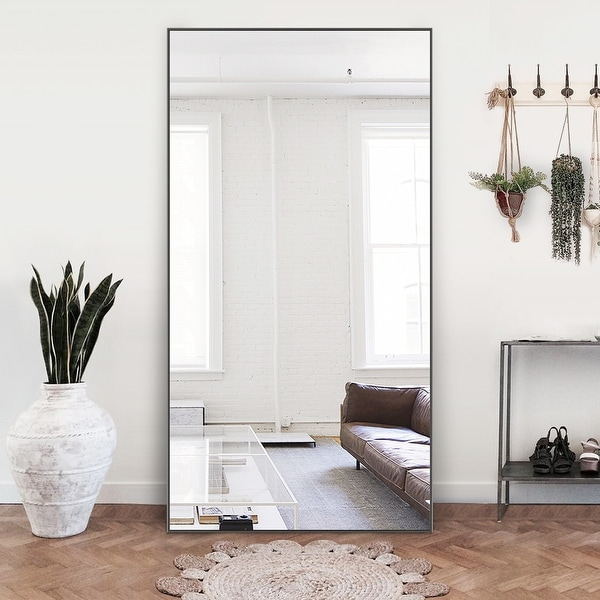 "71"" Modern Large Rectangular Full-Length Floor Wall Mirror. Opens flyout."