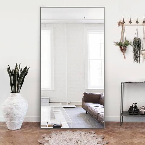 Modern Large Rectangular Full-Length Floor Wall Mirror