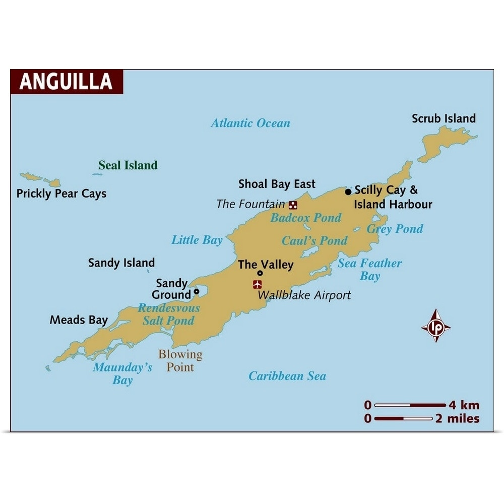 Map of Anguilla - Multi-color Map Of Anguilla on map of montserrat, map of st barts, map of martinique, map of caribbean, map of antigua, map of st maarten, map of jamaica, map of french southern territories, map of aruba, map of the bahamas, map of the south sandwich islands, map of dominica, map of guadeloupe, map of cuba, map of st martin, map of argentina, map of barbados, map of costa rica, map of nepal,