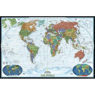 National Geographic World Decorator - Enlarged And Laminated Map