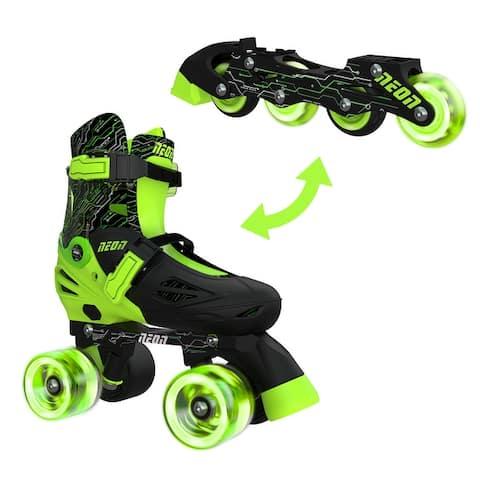 NEON Combo Skates (size 3-6) green