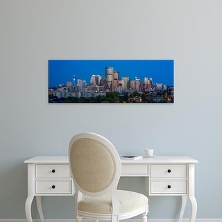Easy Art Prints Panoramic Images's 'Skylines in a city, Calgary, Alberta, Canada' Premium Canvas Art
