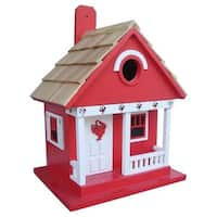 "9.5"" Fully Functional Red Lobster Whimsy Cottage Outdoor Garden Birdhouse"