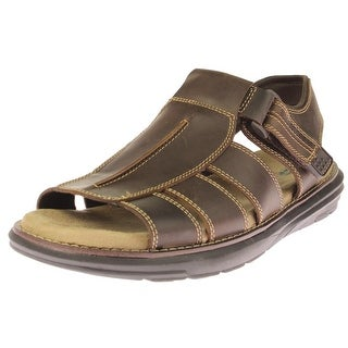 Dr. Scholl's Mens Seaton Fisherman Sandals Leather Contrast Stitching