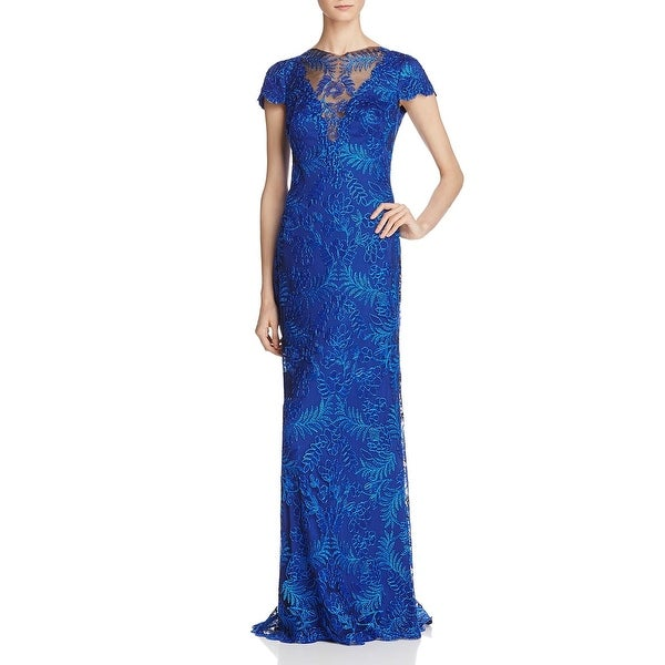 Tadashi Shoji Womens Evening Dress V-Neck Short Sleeves - Free ...