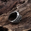Vienna Jewelry Medium Stainless Steel Skull Ring - Thumbnail 1