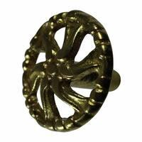 Vintage Cabinet Knob Solid Cast Brass Swirled  | Renovator's Supply