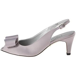 VANELi Womens Malpha Satin Peep-Toe Slingback Heels