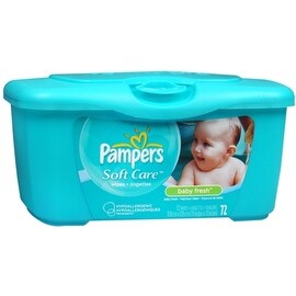 Pampers Baby Fresh Wipes Tub 72 Each (4 options available)
