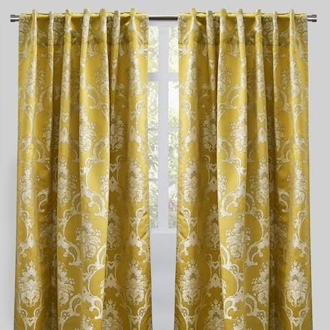"Rodeo Home Rod Pocket Katherine Damask Curtains (Set of 2) - 54"" x 96"" - 54"" x 96"""