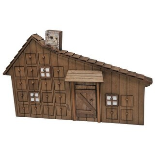 Little House on the Prairie Holiday Wood Advent Calendar With Ornaments