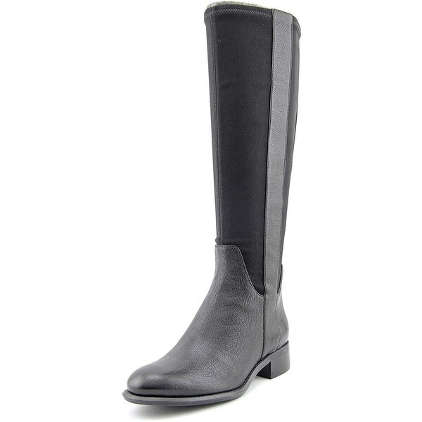 Nine West Joesmo Round Toe Leather Knee High Boot