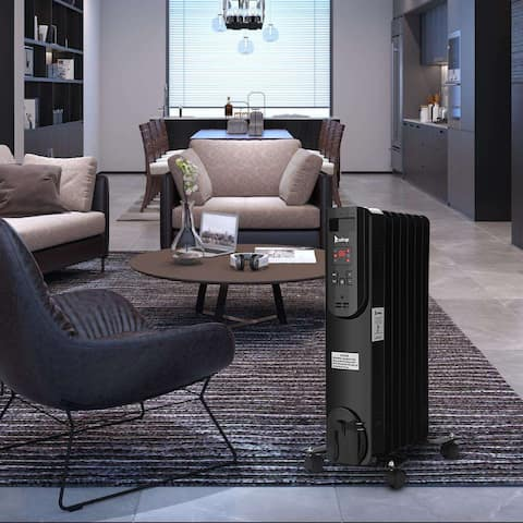 Oil Heater with Display with Temperature Adjustment and Remote Control