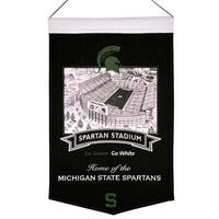 Michigan State Spartans Banner Wool Stadium Spartan Stadium