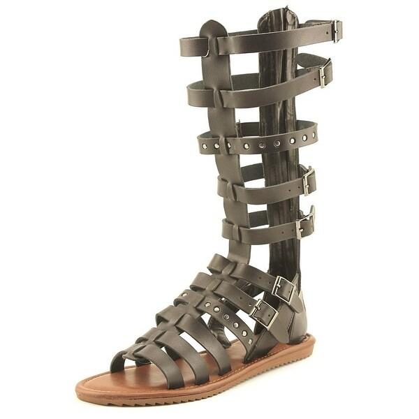 Seven Dials Sarita Women Open Toe Synthetic Black Gladiator Sandal