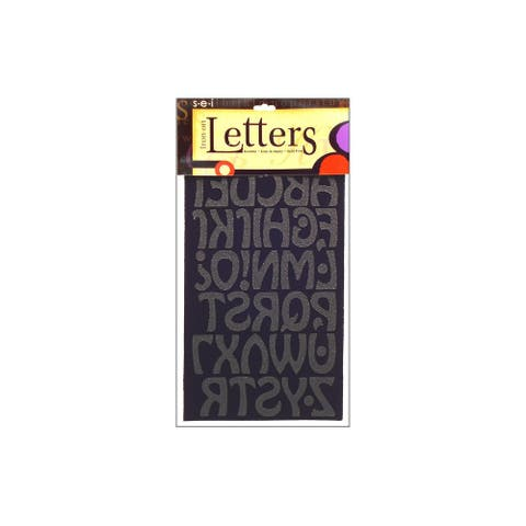 "SEI Iron On Art Transfer Letters Cool 1.5"" Black"