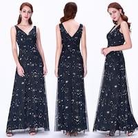 Ever-Pretty Women Fashion V Neck Long Evening Party Dress 07541