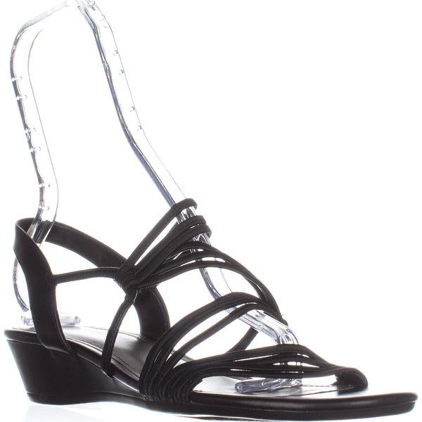 Impo Rocio Strappy Slingback Sandals, Black