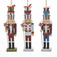 """Club Pack of 12 Vibrantly Colored Glittering Nutcracker Ornaments 6"""" - RED"""