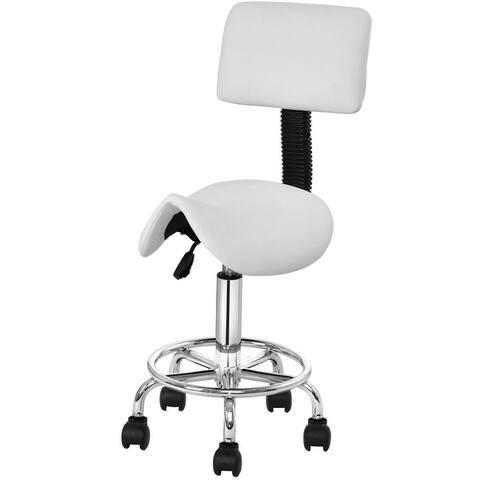 Costway Adjustable Saddle Salon Stool Rolling Massage Chair Tattoo