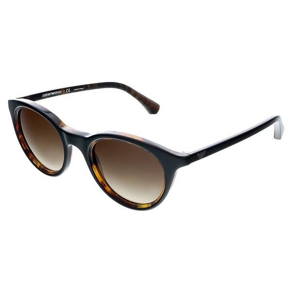 4d13f2d6dfac3 Emporio Armani EA4061 504913 Black Havana Round Emporio Armani sunglasses -  49-22-