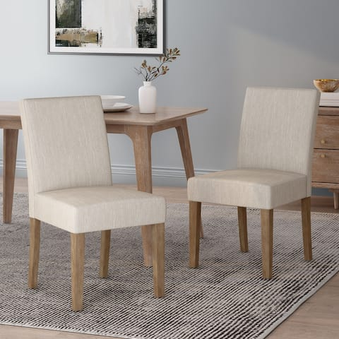 Kuna Contemporary Upholstered Dining Chair (Set of 2) by Christopher Knight Home