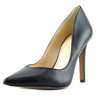 Jessica Simpson Cylvie Pointed Toe Leather Heels