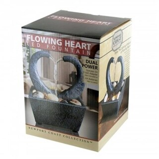 Kole Imports OL602-1 Flowing Heart LED Fountain