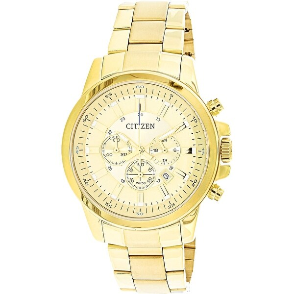 a9e8d16950a2c Shop Citizen Men s Urban Gold Stainless-Steel Japanese Quartz Dress Watch -  Free Shipping Today - Overstock - 18616720
