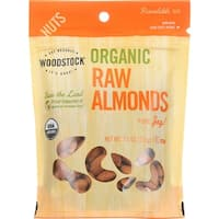 Woodstock Organic Almonds - Raw - Case of 8 - 7.5 oz.