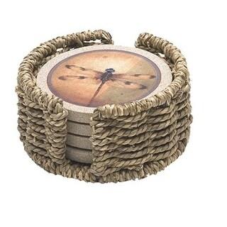 Thirstystone H14 Seagrass Round Circular Coaster Holder