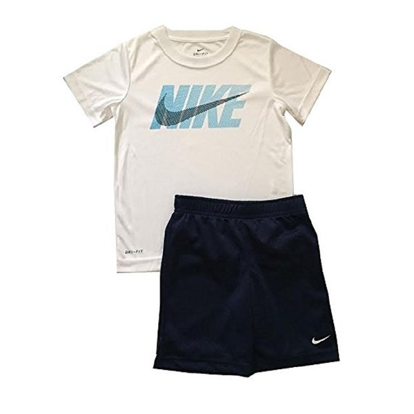 23bf794af Shop Nike Little Boys Dri-Fit Two Piece Tee Shirt and Shorts Set Binary Blue,  7 Kids - Free Shipping On Orders Over $45 - Overstock - 21163207