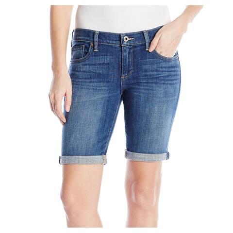 Lucky Brand Women's Shorts Blue Size 4 Denim Bermuda Seamed Stretch