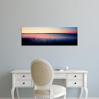 Easy Art Prints Panoramic Images's 'Sunrise Lake Michigan WI USA' Premium Canvas Art