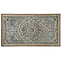 Brown and Gray Metallic Decorative Framed Distressed Medallion Wall decor 39.3""