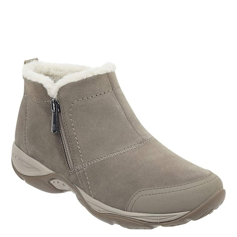 Easy Spirit Womens Embark Leather Round Toe Ankle Cold Weather Boots