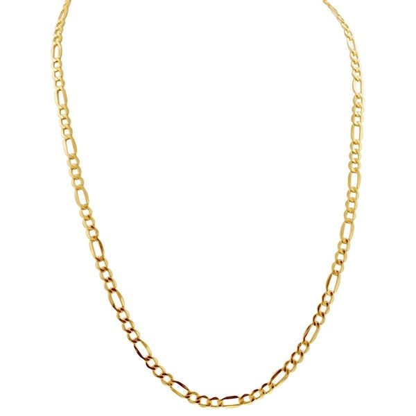 Mcs Jewelry Inc 14 KARAT YELLOW GOLD LIGHTWEIGHT FIGARO CHAIN NECKLACE (5.4MM)
