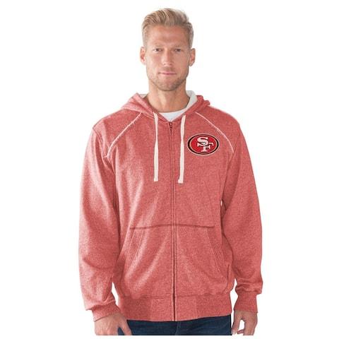 G-III Sports Mens San Fransisco 49ers Hoodie Sweatshirt, Red, Small
