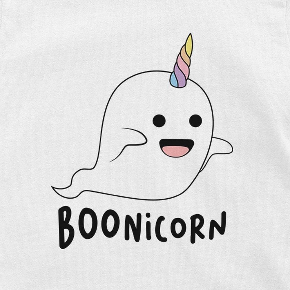 Boonicorn Cute Halloween Costume Funny Ghost Unicorn Baby Gift Tee White