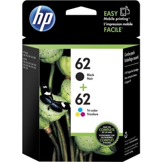 HP 62 2-pack Black/62 Tri-Color Original Ink Cartridges (Single Pack) Ink Cartridge
