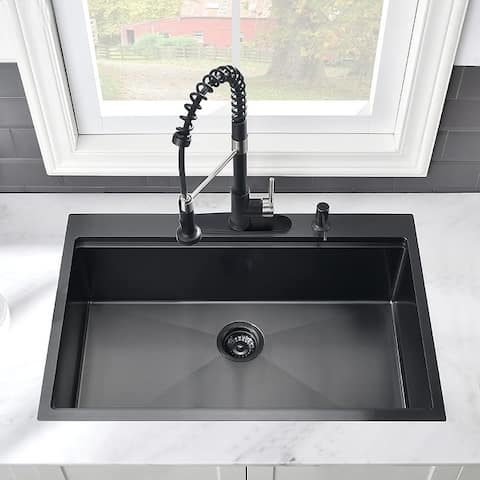 "Proox 33""L X 22""W Topmount Stainless Steel Kitchen Sink"