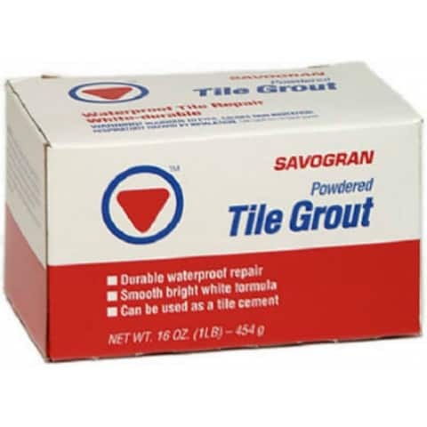Savogran 12841 Waterproof Powdered Tile Grout, 1 Lb, White