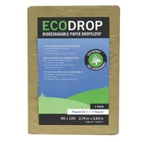 Trimaco 02101 Paper Drop Cloth, Brown, 9' x 12'