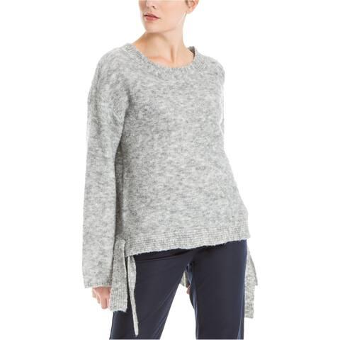 Max Studio London Womens Side-Tie Melange Knit Sweater