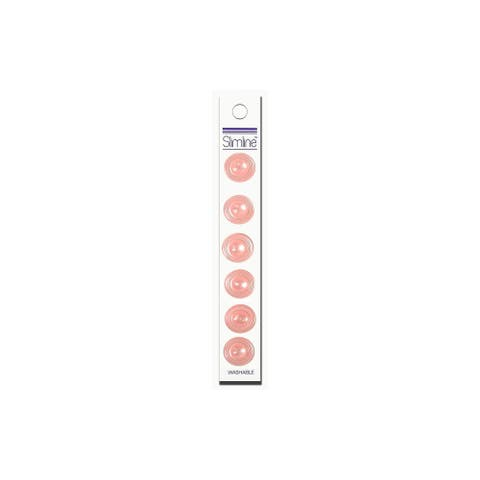 "Slimline Blumenthal Buttons 5/8"" Pink 6pc"