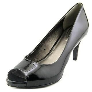 Trotters Olivia Peep-Toe Patent Leather Heels