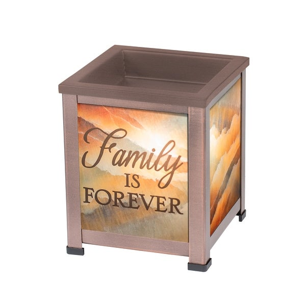 "8"" Brown and Orange ""Family IS FOREVER"" Candle Warmer - N/A"
