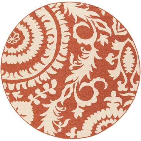 Nina Contemporary Floral Indoor/Outdoor Area Rug