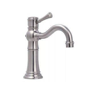 Miseno ML521 Santi-V Single Hole Bathroom Faucet with Solid Brass Push-Pop Drain Assembly - n/a